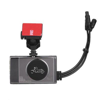 1080P Motorcycle Driving Recorder Waterproof Front and Rear Mirror Double Lens