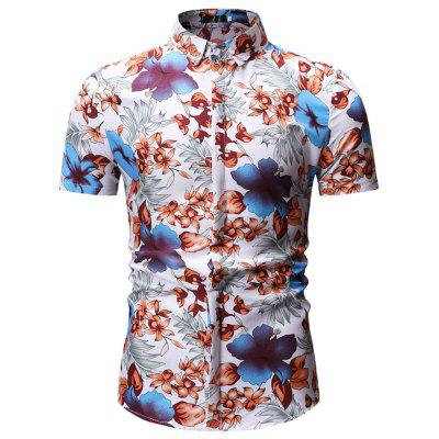 Men's  Outfit Summer Wild Slim Casual Fashion Lapel Shirt