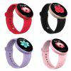 Women Smart Watch Heart Rate Waterproof Smartwatch Ladies Wrist Sport Watches - RED