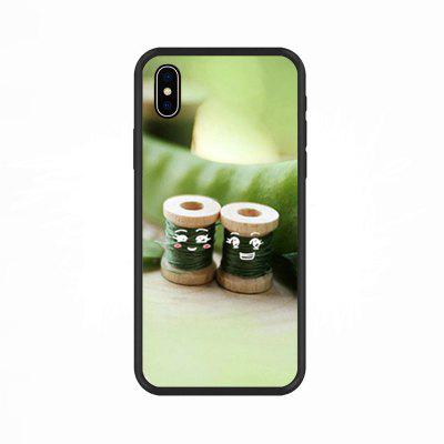 Lovely Sewing Cotton Balls-Nano Scratch Resistant Mobile Phone Case for IPhone X