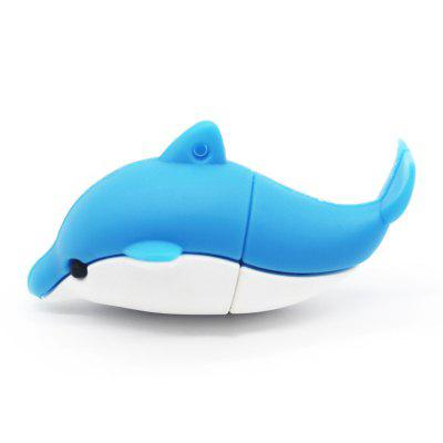 Cute Dolphin U Disk USB 2.0 Flash Drive 8GB 16GB 32GB 64GB 128GB Pendrive