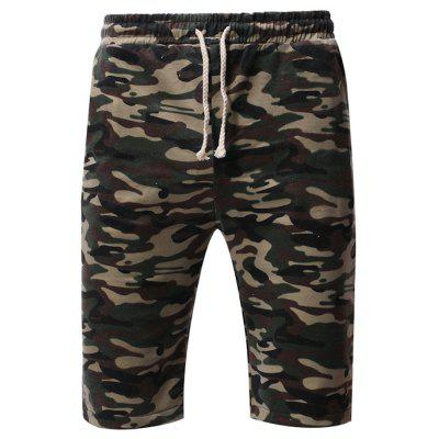 a47382ba095d Summer Camouflage Casual Shorts Men Plus Size Loose Overalls Shorts Mens