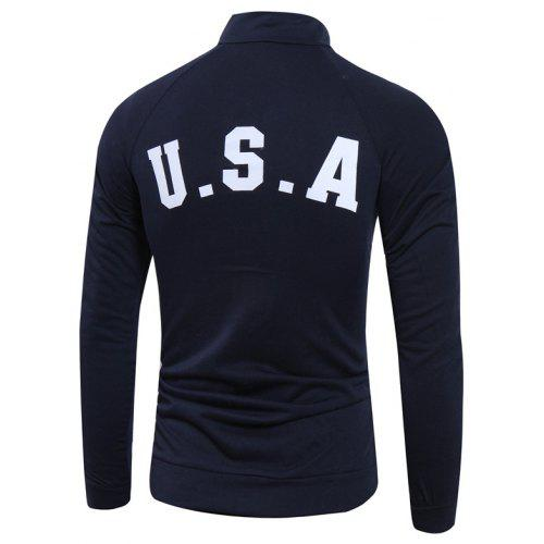 2xl Pull Conception De Drapeau AméricainCadetblue Hot Men Usa Commerce Extérieur bfg76y