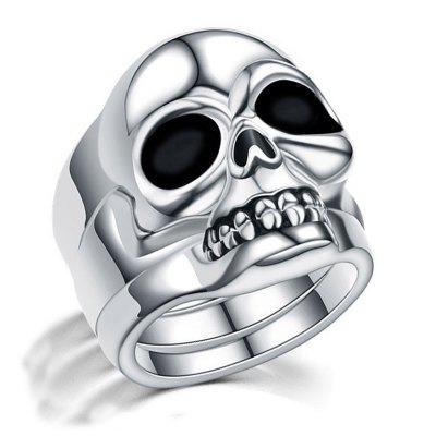 Punk Jewelry Skull Silver Split Type Men Wedding Rings for Women Male