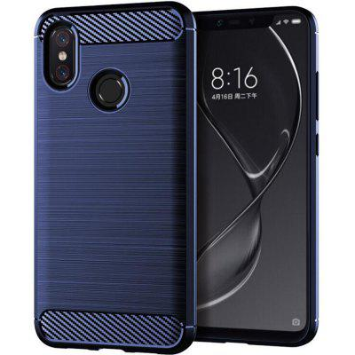 Blue Drawing Carbon Fiber Phone Case for Xiaomi 8