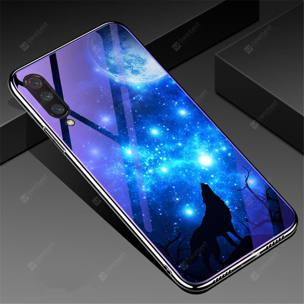 Plating Blue Light Tempered Glass Cover Case for Xiaomi Mi 9