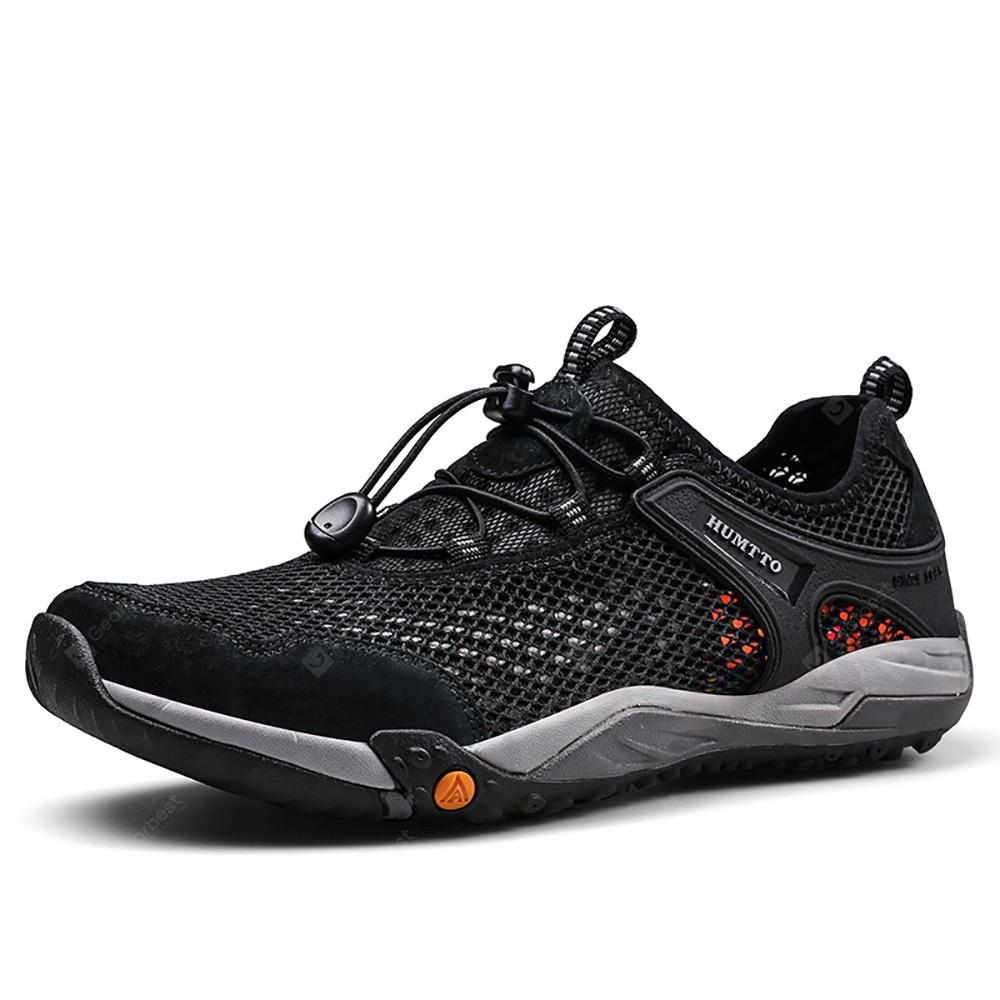 HUMTTO Men Hiking Shoes Summer Breathable Mesh Lightweight Outdoor Sports Shoes