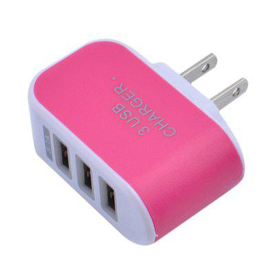 3 usb plugue porta parede usb carregador triplo adaptador