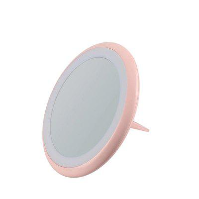 Rechargeable Multi-Function Portable Ring Makeup Mirror LED Light Mobile Power