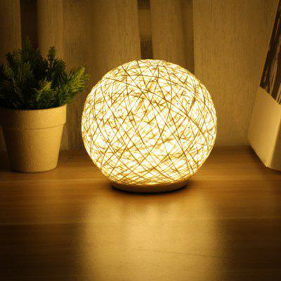 Fashion Rattan Ball Style Touch Night Light for Home
