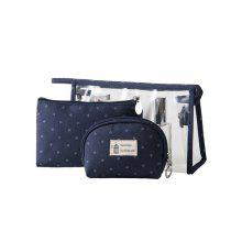 Three-Piece Printed Clutch Bag Travel Portable Wash Bag