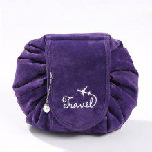 Velvet Travel Large-Capacity Storage Bag Drawstring Lazy Cosmetic Bag