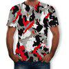 Camouflage Fashion Casual Short-Sleeved Men's T-shirt - MULTI-A