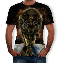 8ce57a9117e3 New Fashion Wolf 3D Printed Short-Sleeved T-shirt