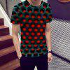 New Fashion Men 's Geometric Figura 3D imprimat cu mânecă scurtă T-shirt - MULTI