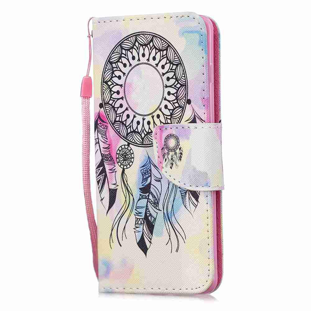 Dream Catcher Painting Pu Phone Case for Samsung Galaxy S10 E