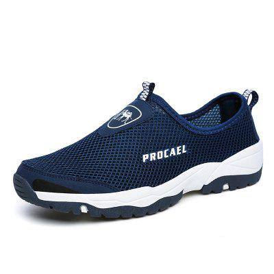 02f5eb656eaa82 52% OFF Sports Outdoor Mesh Breathable Hollow Lazy Shoes For Men