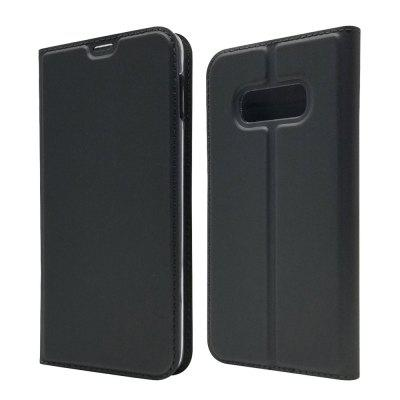 Card Holder Magnetic Full Body Solid PU Leather Case for Samsung Galaxy S10e