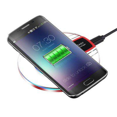 Qi Wireless Fast Charging Desktop Mobile Phone Charger Pad for Samsung / iPhone