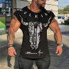 New Cotton Round Neck Fitness T-Shirt Male Training Short Sleeve - BLACK