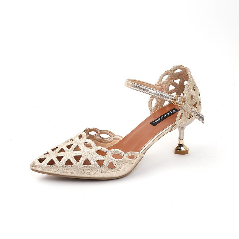 New Style Baotou High Heel Hollow Sandals