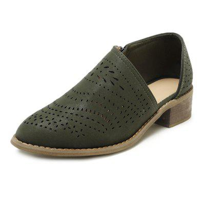 Point Middle Heel Breathable Single Shoe