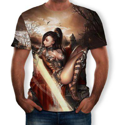 3D Summer Fashion Women'S Clothing Men's Short-Sleeved T-shirt