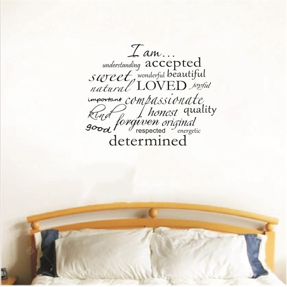 Home Decoration Art Removable English Letter Wall Sticker