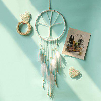 Baimusheng Dream Catcher Biely strom Indoor prívesok