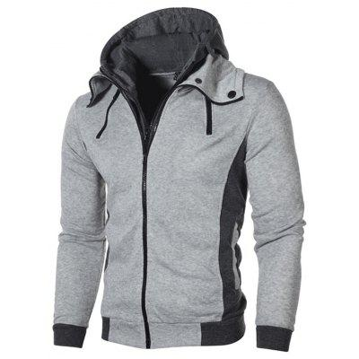 Men Coat Outwear Sweater Winter Slim Warm Hooded Cotton Blend Fashion Sweatshirt