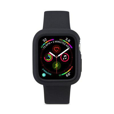 2 en 1 correa de reloj de silicona con estuche para Apple Watch serie 4 40 mm