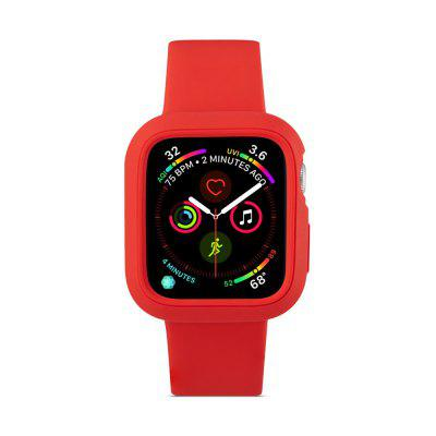 2 en 1 correa de reloj de silicona con estuche para Apple Watch Series 4 44MM