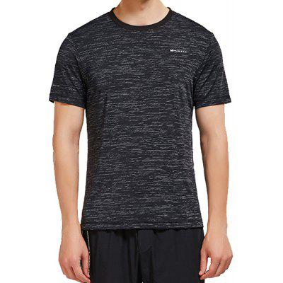 HUMTTO Men'S Round Neck T-Shirt High Elastic Breathable Soft Summer Sports