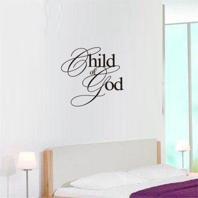Kind van God Art Apothegm Home Decal Muursticker
