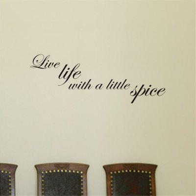 Home Decoration English Letter Art Adesivo da parete rimovibile Apothegm