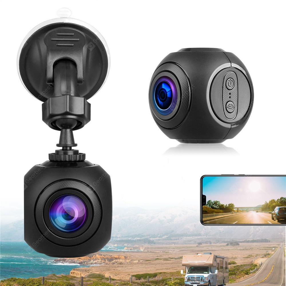 Mini WiFi Car Dash Cam FHD 1080P GPS Camera Dashboard W/ G-Sensor Night Vision - Black
