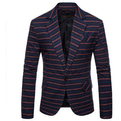 New Man Fashion Strip Casual Blazer 1257