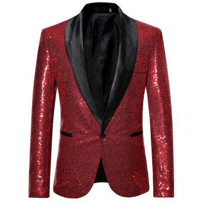 Man Fashion Sequins Bling Casual Blazer Coat 1256