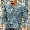 New Man Fashion Cotton Blend Full Sleeve O-Neck Spring Summer T-Shirt 1248 - DARK GREEN