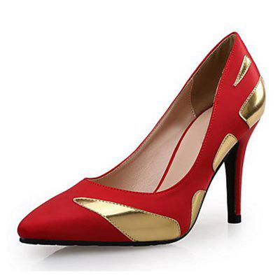 Hit Color Stitching Temperament Pointed High-Heeled Shoes