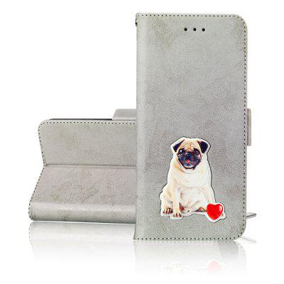 Wallet Flip Bracket leather Lovely Small pet phone Case for LG V40 ThinQ Cover