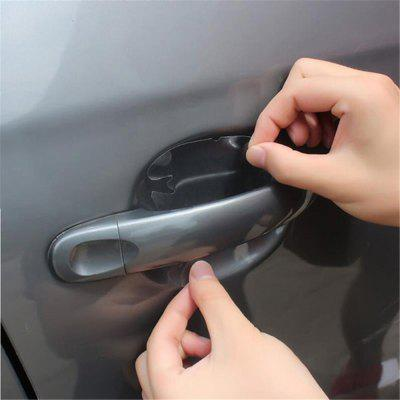 4 PCS / Pack Car Door Handle Proteção Film Sticker Impedir Coçar