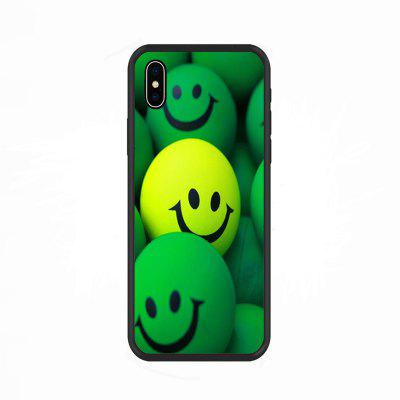 Yellow Green Smiling Face-Nano Scratch Resistant Mobile Phone Case for IPhone X