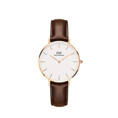 DW Female Watch 32mm Gold Side White Plate Belt Ladies Watch Student Watch