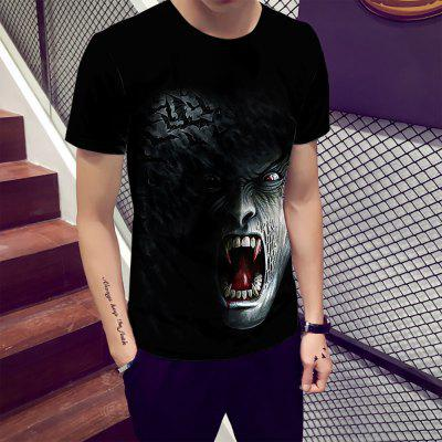 Vampire Fashion Sports 3D Printed Short-Sleeved T-shirt