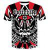 Cool 3D Round Collar Print Men Women Casual Short Sleeve Graphic T-Shirt - MULTI-A