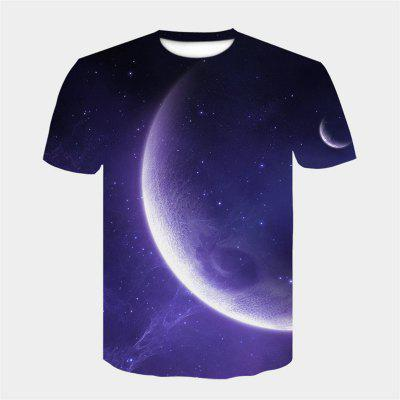 New Style Funny 3D Graphic Print Casual Short Sleeve Tees Tops T-Shirt