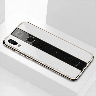 Plating PC Glass Mirror Back Cover Soft Frame Case for Xiaomi Redmi Note 7