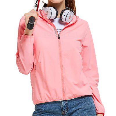HUMTTO Women's Hooded Sweater Breathable Stretch Casual Sports Jacket