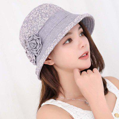 New Lady Cotton Print Floral Comfortable Sunscreen Bucket Hat T0335